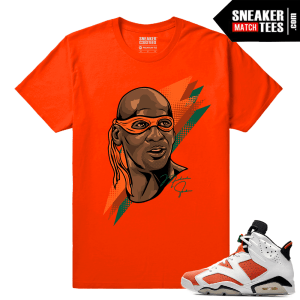 Gatorade 6s Sneaker tees Orange Michaelangelo