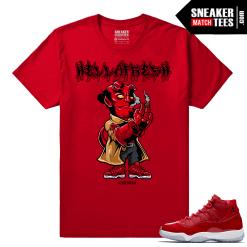 Jordan 11 Win Like 96 Gym Red T shirt Hella Fresh