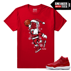 Jordan 11 Win Like 96 Sneaker tees Sneakerhead Santa