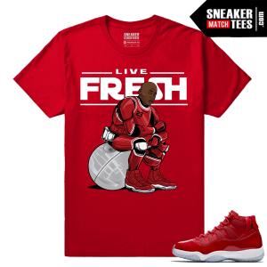 Jordan 11 Win Like 96 T shirt Red MJ Trooper 11