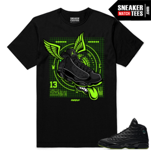 Altitude 13 Sneaker tees Black Fly Kicks