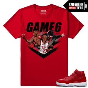 Jordan 11 Win Like 96 Sneaker tees Red Jackson Tyson Jordan Game 6