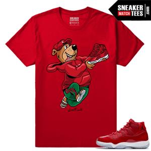 Jordan 11 Win Like 96 Sneaker tees Red Live Fresh Yogi