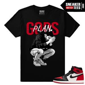 Jordan 1 Bred Toe Sneaker tees Black Gods Plan
