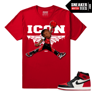 Jordan 1 Bred Toe Sneaker tees Red ICON