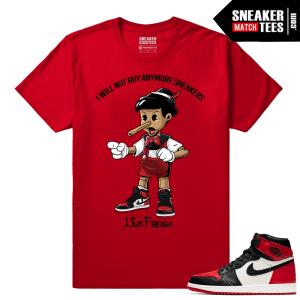 Jordan 1 Bred Toe Sneaker tees Red Live Fresh Pinocchio