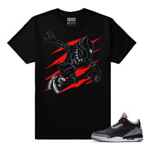Jordan 3 Black Cement Sneaker tees Black Panther x Cement 3