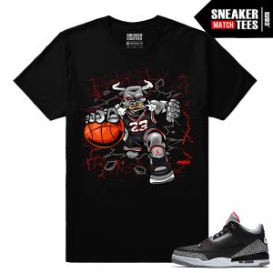 Jordan 3 Black Cement Sneaker tees Black Bull Rage
