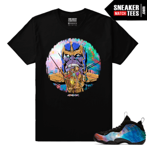 Big Bang Foamposites Sneaker Match Tees Black Thanos Rare Air