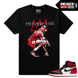 Jordan 1 Bred toe Sneaker Match Tees His Airness