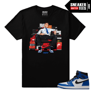Jordan 1 Game Royal Sneaker Match Tees Black Bundy Shoe Connect