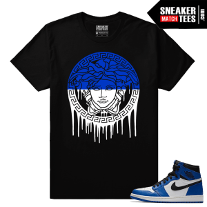 Jordan 1 Game Royal Sneaker Match Tees Black Medusa Drip