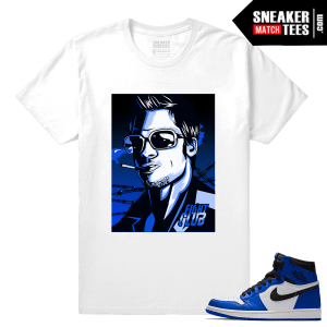 Jordan 1 Game Royal Sneaker Match Tees Fight Club