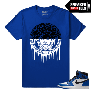 Jordan 1 Game Royal Sneaker Match Tees Royal Medusa Drip