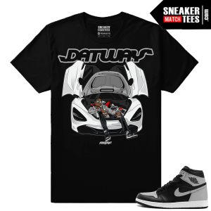 Jordan 1 OG Shadow Sneaker Match Tees Shirts