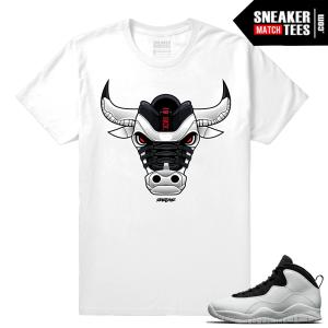 Jordan 10 Im Back Sneaker Match Tees White Im Back Bull