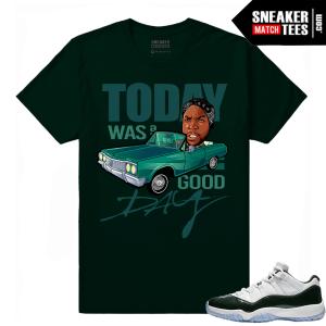 Emerald 11 Low Jordan Retro Matching Tee shirt