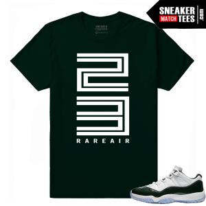 Jordan 11 low Emerald Sneaker tee shirt