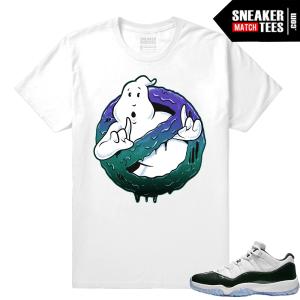 Sneaker tee shirt Jordan 11 Low Emerald Green Match