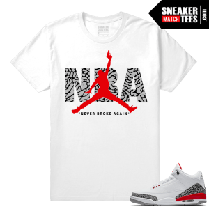 NBA Youngboy shirt match Jordan 3 shoes