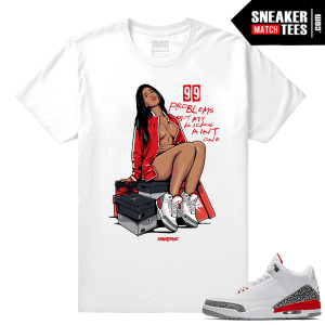 Air Jordan Retro 3 Katrina Sneaker Match Tees
