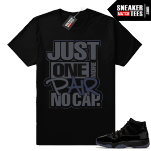 Black Jordan 11 match shirt