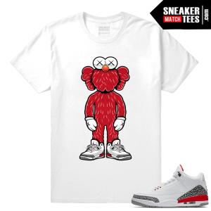 Kaws x Elmo Jordan 3 Katrina shirt