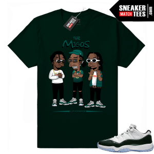 Migos t shirt Emerald 11 lows