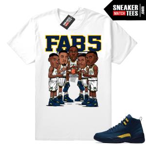 Fab 5 Michigan Jordan 12 Shirt