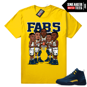 Fab 5 Michigan wearing Jordan 12