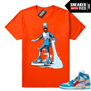 Frozone wearing Off white Jordan 1 Shirt