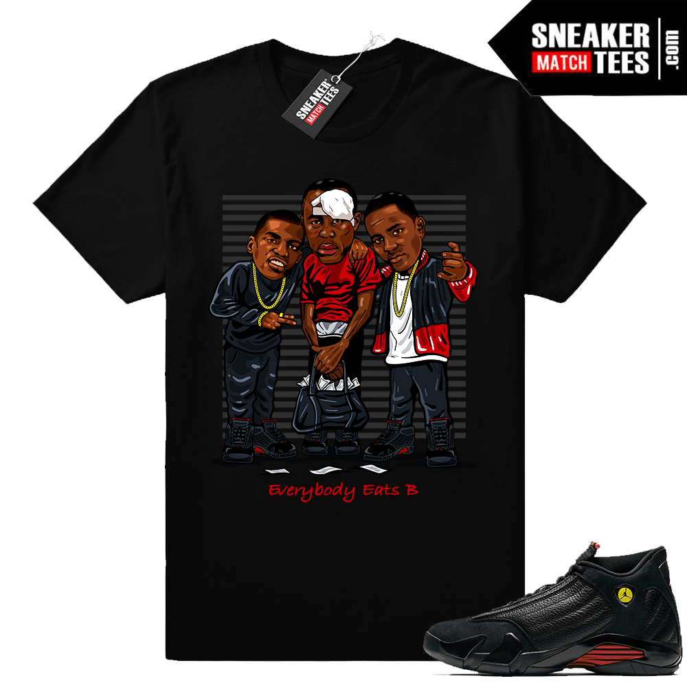 Jordan 14 tee shirt match Last shot 14