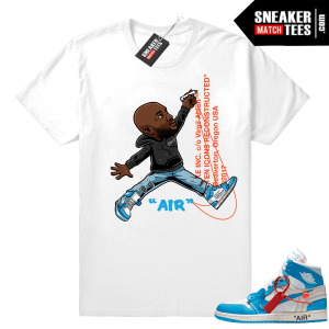 Off-White Jordan 1 UNC shirt to match