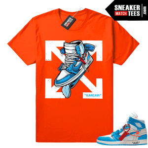 Off white Jordan 1 UNC shirt