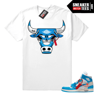 Off white UNC Jordan 1 shirt