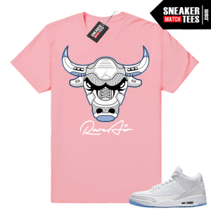 Air Jordan 3 Pure White Matching Shirt