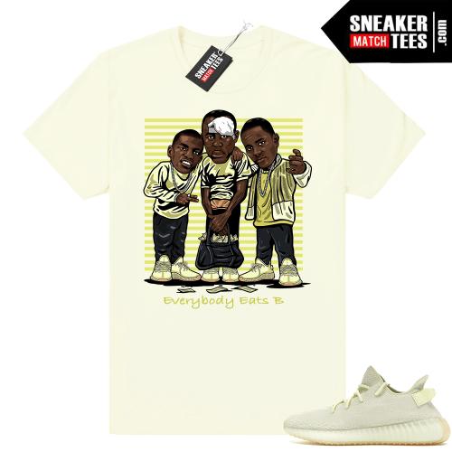 Butter yeezy shirt matching sneakers