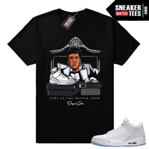Jordan 3 Pure White shirt