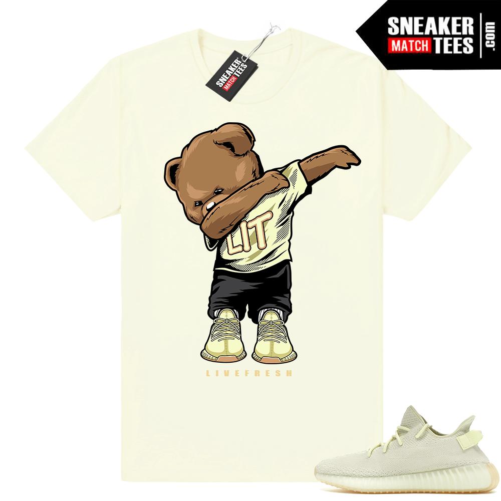 Yeezy Boost 350 Butter Bear t shirt