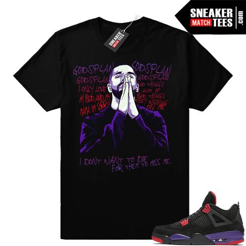 Gods Plan Raptor 4s shirt