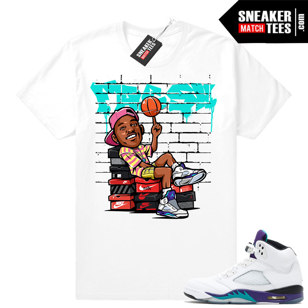 Grape 5s Matching t shirt Jordan retros