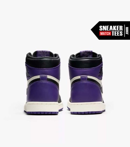 Jordan 1 Court Purple Shirts match sneakers (5)