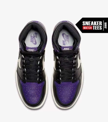 Jordan 1 Court Purple Shirts match sneakers (6)
