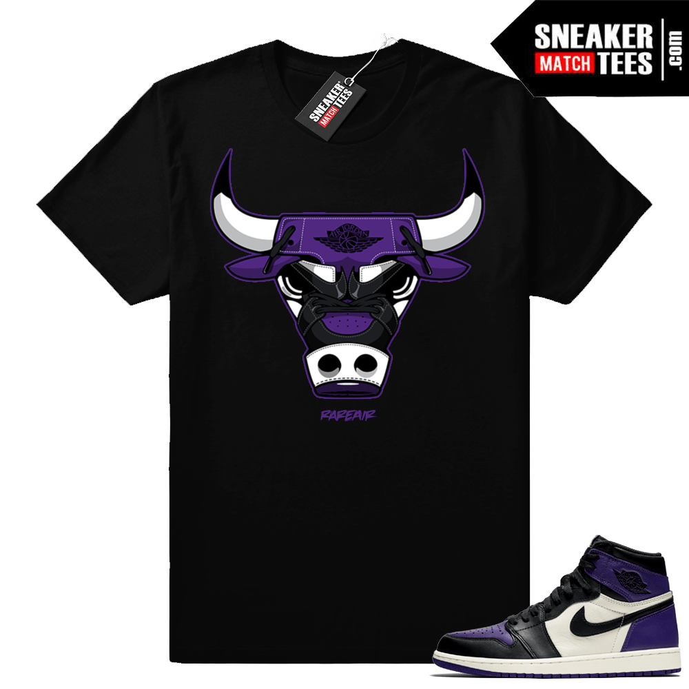 Match Jordan 1 Court Purple Sneaker shirt