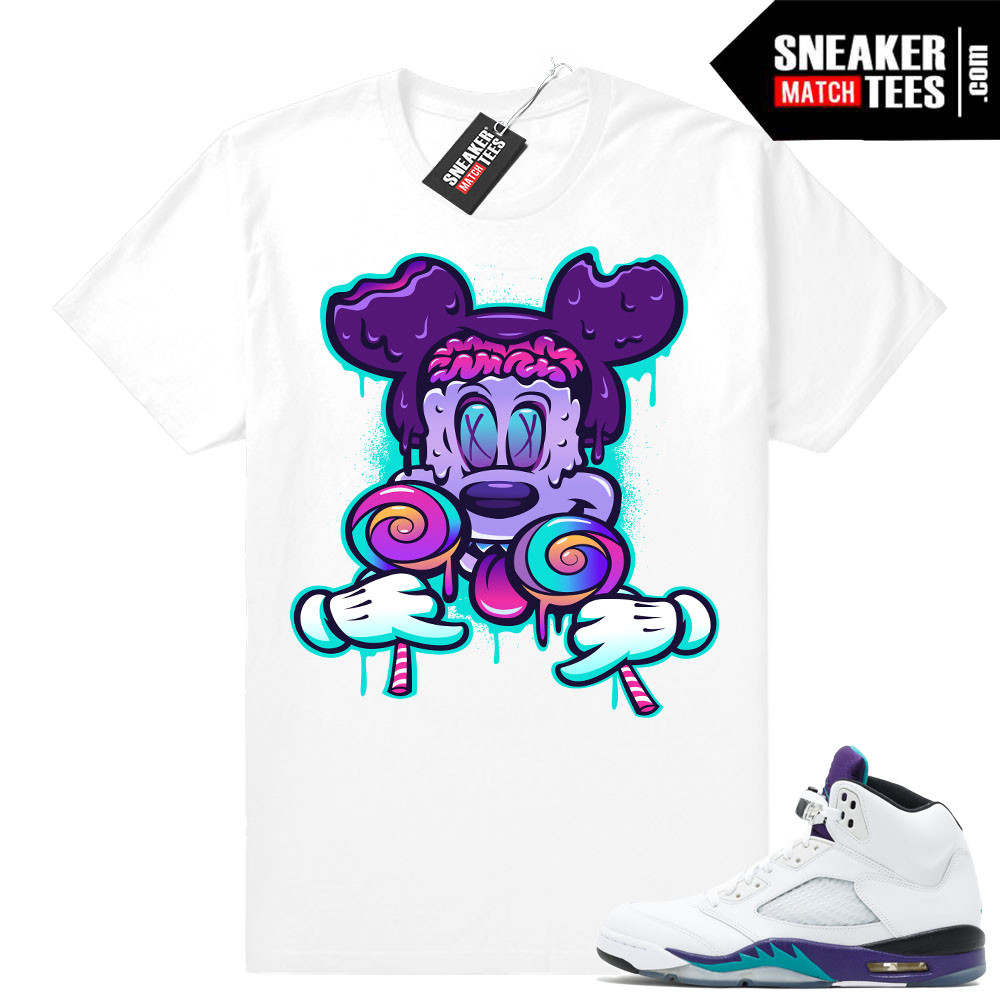 Retro Grape 5s Tees Match