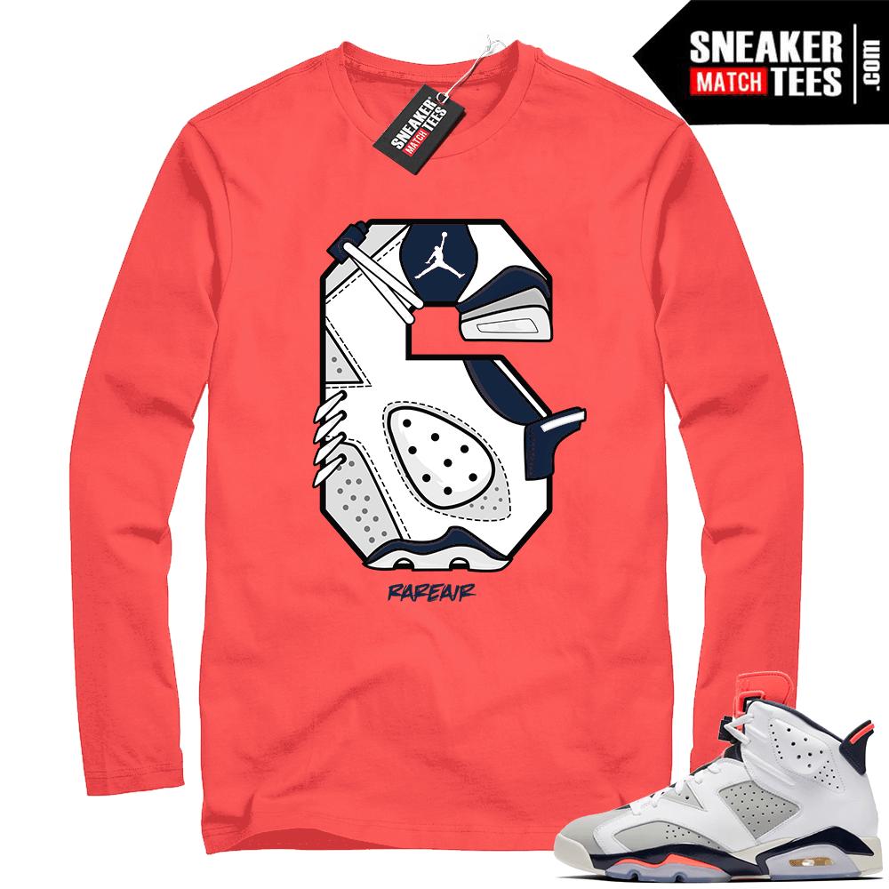 Jordan retro 6 sneaker shirt