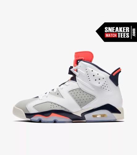 Shop Jordan Retro 6 Tinker shirts match sneakers (2)