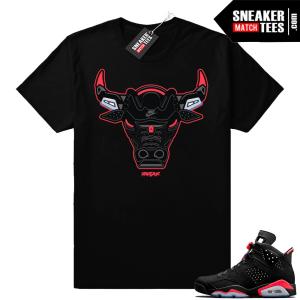 Infrared 6 black Rare Air Bull t-shirt