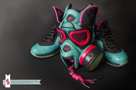 "Nike LeBron 8 ""South Beach"" Gas Mask By Freehand Profit"