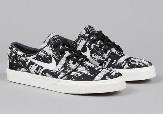 Nike Sb Uni Zoom Stefan Janoski Premium Sneakers White Textile
